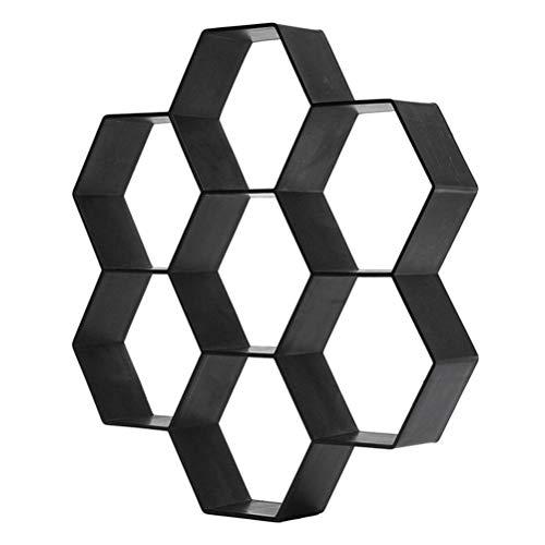 Modelo de suelo de plástico, moldes de hormigón hexagonales para hacer caminatas, moldes de suelo de hormigón reutilizables para caminatas, pasarelas, moldes para piedras, moldes para caminos jardín