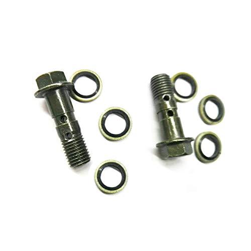Motorcycle M10X1.25 Oil Drain Screw Double Hole Brake Bolt For Hydraulic Brake Hose Caliper Adaptor