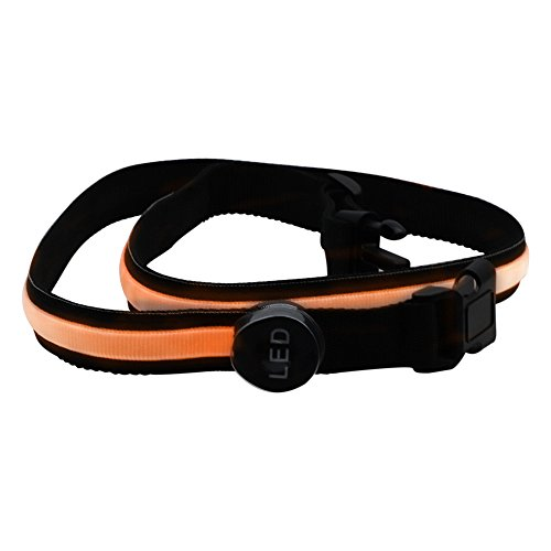 Rongjuyi oranje LED knipperband veiligheidsreflecterende riem band hand accessoires trainingspak 78cm
