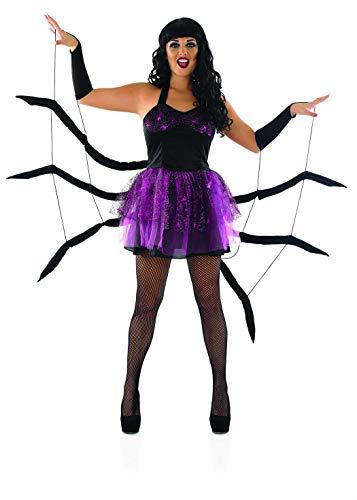 Fun Shack Negra Araña Disfraz para Mujeres - L
