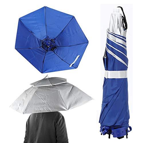 Qqmora Sombrero de Paraguas de Pesca Respirable Sombrero de Paraguas Respirable Anti-UV, Pesca(#1)