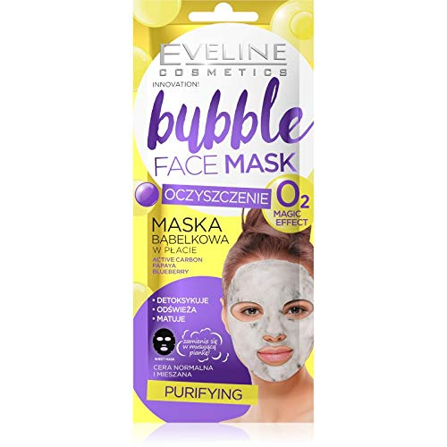 Eveline Cosmetics Bubble Charcoal Flat Gesichtsmaske, 10 ml