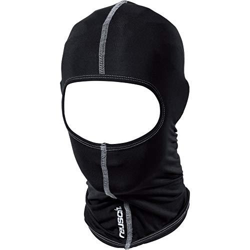 Reusch Gesichtsschoner, Sturmhaube Sturmhaube 1.0, top Atmungsaktivität, hoch elastisch, Komfort Flachnähte, Micro Funktionsgewebe, Schwarz, Einheitsgröße