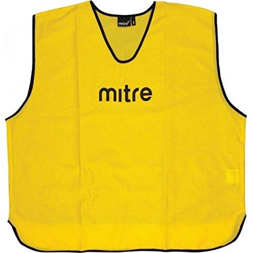 Mitre Trainingsleibchen-Set für das Grundlagentraining 25-teiliges, Yellow, erwachsenengröße