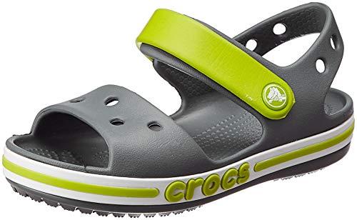 Crocs Unisex-Kinder Bayaband Sandal K Freizeit Flip Flops Sportwear, Grau (Holzkohle), 33 EU