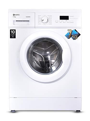 Koryo 7 kg Fully-Automatic Front Loading Washing Machine (KWM1272FL, White,inbuilt Heater)