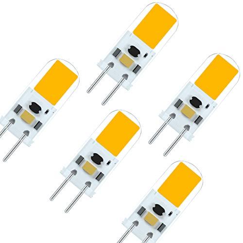 7117 Último G6.35 GY6.35 LED 4W 12V Bombilla Equivalente de Alto Brillo 40 Vatios Lámpara Halógena Blanco Cálido 3000K (5 Paquetes)