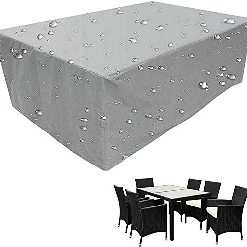 Furniture Cover, Outdoor Garden Waterproof Covers, Garden Table and Chair Wind Cover, Dustproof, Rainproof, Snowproof, Ultraviolet Combination Table and Chair Cover, Used for Outdoor Cube Set, Courtya
