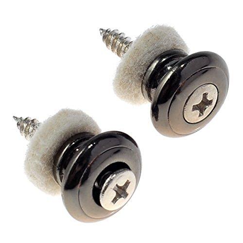 WINOMO 2pcs champignons tête guitare Bracelet boutons (noir)