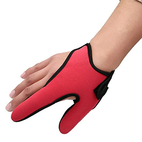 Outdoor Single Finger Protector Fishing Gloves One Finger Non-Slip Glove Stall Protector Sea Fly Carp Fishing Tools - Red