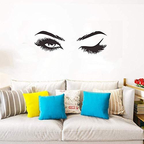 Damen Wimpern Stern Dekor Nette Aufkleber Abnehmbare Home Art Wandaufkleber Schlafzimmer Wohnzimmer Dekor Sofa TV Hintergrund DIY Kunst Decals (Aufkleber 1)