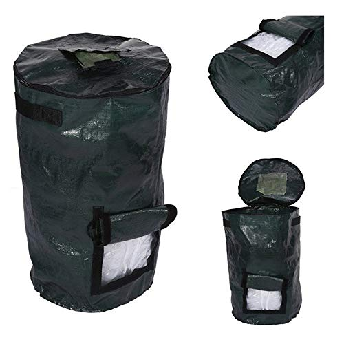 Cheap QIHONG PE Cloth Compost Bag Ferment Garden Waste Bin,Durable & Anti-Corrosive,Foldable,for Yar...