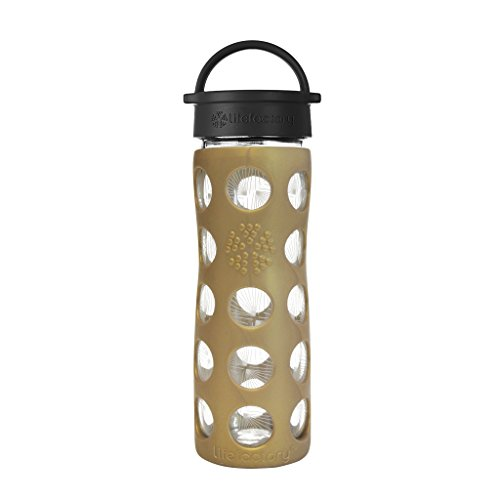 Lifefactory Glas-Trinkflasche 475 ml - Limited Edition Golden Dew
