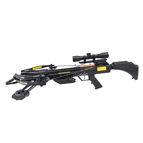 SAS Troy 370 Compound Crossbow 4x32 Scope Package with Free Crossbow Bag and Extra 6 x Carbon Bolts