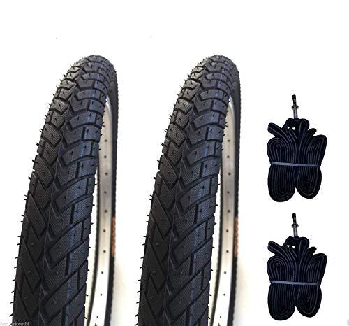 Deestone EBA20BMD 2 COPERTONI E + 2 CAMERE d'Aria per BMX Bicicletta Nero 20 X 1.95 (50-406) GOMME