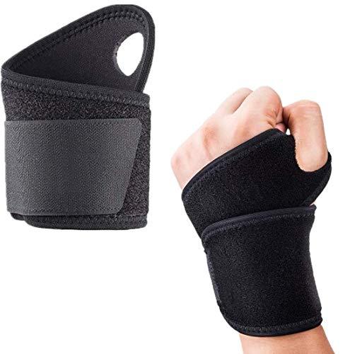 Handgelenk Bandagen, 2er Handgelenkbandage, Verstellbare Handgelenkstütze mit Klettverschluss, Atmungsaktivem Handbandage, Handgelenk Bandagen Fitness für Fitness, Gewichtheben, Schwarz