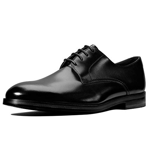 Clarks Oliver Lace, Scarpe Stringate Derby Uomo, Nero (Black Leather), 43 EU