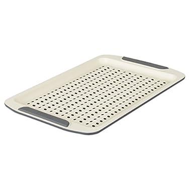 Viking 4040-3713-CGY Ceramic Nonstick Bakeware Crisper Sheet Pan, 13 Inch