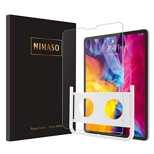【ガイド枠付き】 Nimaso iPad Pro 11 ガラスフィルム (2020/2018)用 液晶保護フィルム【1枚セット】