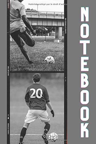 Note book Football: Carnet de notes I 6x9 I 120 pages I Ligné I Passion Football