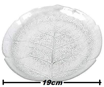 Cristales de la serie Aspen - Cuencos y platos de cristal en varios tamaños, vidrio, 6 x Dessertteller flach 19cm