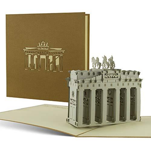Podaruj bon na podróż do Berlina, wycieczkę w Berlinie, bramę Brandenburską, pamiątkę, piękną kartkę Pop-Up A07