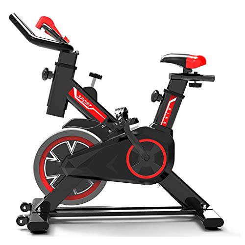 Bicicleta de Spinning Bicicleta Indoor de Volante de Inercia Ultra silencioso Aptitud Bici Y AB Trainer Speedbike, Asiento Ajustable, Bicicleta Fitness hasta 150 Kg