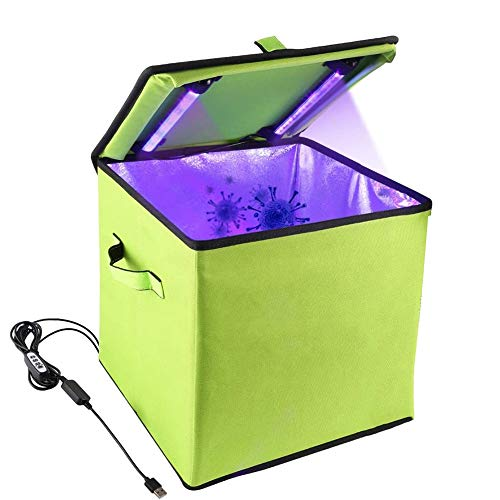LTLGHY UV Sanitizer Box, UV Disinfection Box LED UV Sterilization Bag UVC Cleaner Disinfection Lamp for Baby Bottle Underwear Mobile Phone Clothes Beauty Tools Toys