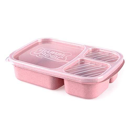 Delisouls Caja de almuerzo para estudiantes, a prueba de fugas, caja de alimentos apta para microondas para estudiantes y trabajadores de oficina