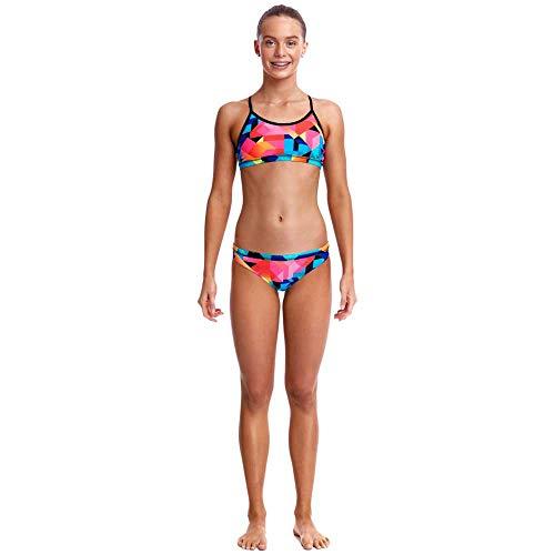 Funkita Mädchen Bikini Set Racerback Two Piece Colour Burst FS02G02204, Größe:140