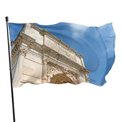 JINCAII Antike große römische Architektur Erwachsene Flagge Flaggen Party Dekoration 3x5 Fuß lebendige Farben Qualität Polyester und Messing Ösen