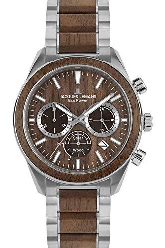 Jacques Lemans Herren Analog Quarz Uhr mit Edelstahl Armband 1-2115J