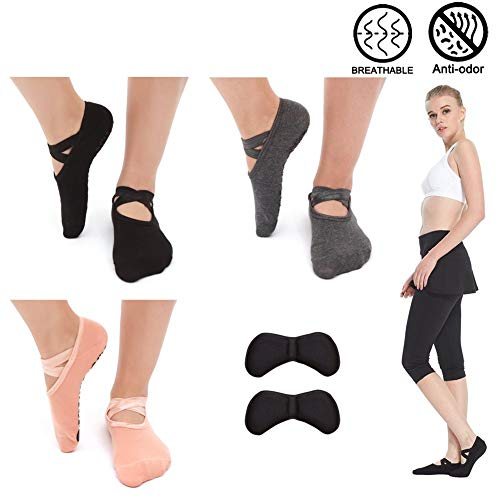 SwirlColor Nicht Slip Yoga Pilates Fingerlose Übung Grip Handschuhe Socken