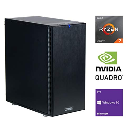 Vision Computers - AMD Workstation - Ryzen 7 3700X, Quadro RTX4000, 64GB RAM, 1TB M.2 NVMe SSD + 1TB 7200rpm HDD, 3.6GHz (4.4GHz Max Turbo) 8-core Processor, Windows 10 Pro 64bit