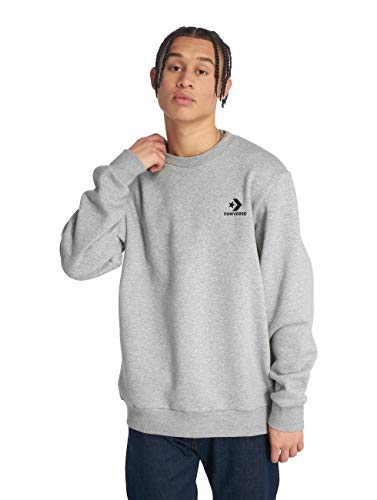 Converse Star Chevron Emb Crew Sudadera, Gris (Vintage Grey Heather 035), Medium...