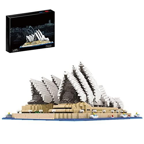 YOU339 Modellbausteine des Theatres, Berühmte Architektur Sydney Opera House Mikroteilchenmodell DIY Mikro-Mini-Teilbaustein Spielzeug für Lego (4131 + Pcs)