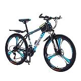 T-Day Bicicleta Montaña 26 En Bicicleta De Montaña Bicycle 21 Speed Dual Disc Freno MTB para Niños Chicas Men Y Wome con Marco De Acero Al Carbono(Size:21 Speed,Color:Azul)