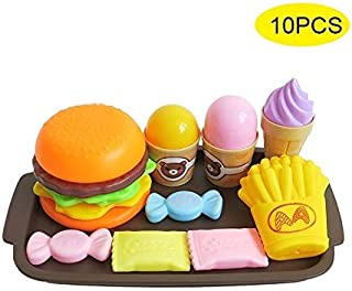 Play Food, Plastic Mock Food Kids Play Food, Pizza Ice Cream Dessert Fruit Pretend Play Food for Pretend Role Playing Chri...