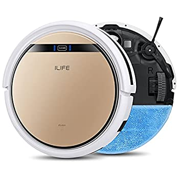 ILIFE V5s Pro 2-in-1 Robot Vacuum and Mop Slim Automatic Self-Charging Robotic Vacuum Cleaner Daily Schedule Ideal for Pet Hair Hard Floor and Low Pile Carpet.