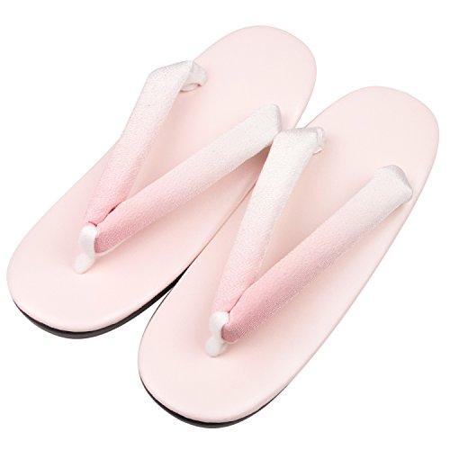 KYOETSU Damen Urethan Zori formelle Sandalen für japanischen Kimono und Yukata, Pink (31.pink), Einheitsgröße