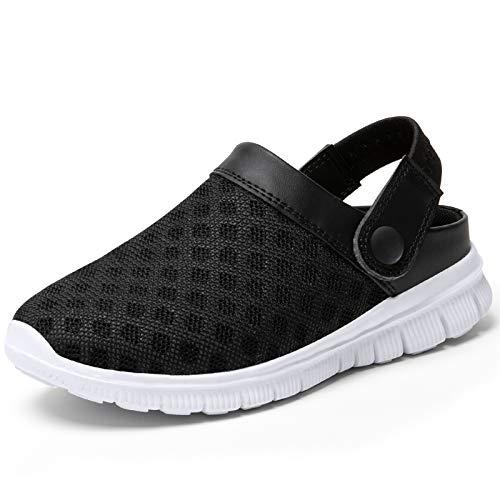 SAGUARO Zuecos para Hombre Mujer Zapatillas de Playa Ligeros Respirable Sandalias del Acoplamiento Ahueca hacia Fuera Zapatillas de Jardín, Negro, 41 EU
