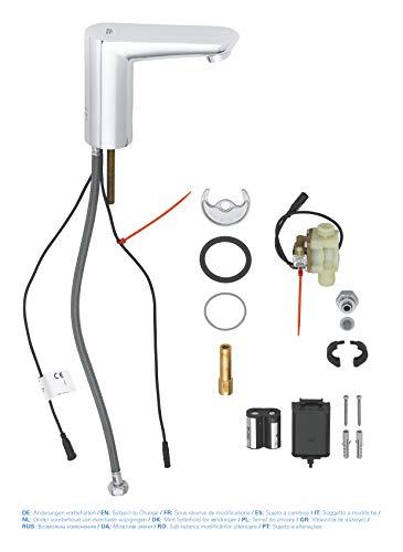 Grohe – Infrarot Sensorarmatur, Waschtisch, Kaltwasserarmatur, mit Batterie, Funktionsmodi, Chrom, Euroeco CE - 5