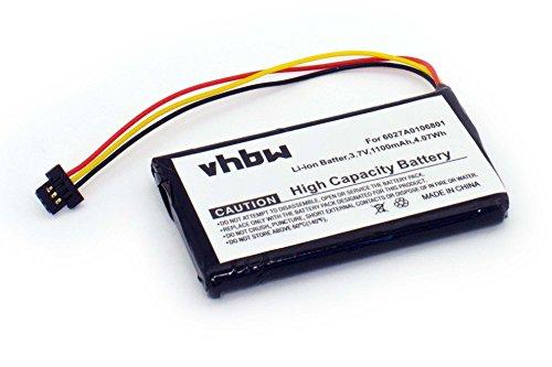 vhbw batería Compatible con Tomtom 4ET0.002.02, 4ET03, XL IQ, XL IQ Routes Edition, XL2 V4 navegador (1100mAh, 3,7V, Li-Ion)