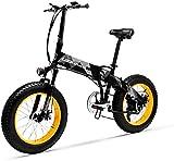 Bici electrica, Bicicleta de montaña eléctrica plegable for hombre for hombre, bicicleta de nieve de la playa de aleación de aluminio de 400W, 48V 10.4Ah Batería de litio Batería de litio Bicicleta, r
