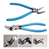 HHoo88 7 Inches Multi-Function Car Rivet Thrust Fixer, Fastener Tool Holder Puller Tool Pliers, Side Cutters Mini Flush Cut Diagonal Pliers Plastic Nippers Angled Wire Cutting High Carbon Steel