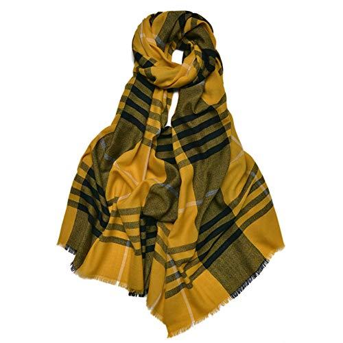 IGRNG Schal, zart und weich Karierter Wollschal Herbst und Winter Weit Silky Wool Warme Wollschal warm und atmungsaktiv, während eine Dame,3