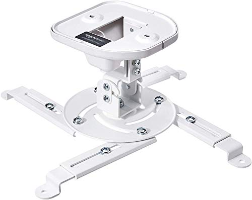 Amazon Basics Tilting Projector Bracket Mount for Ceiling and Wall, 15 kg / 33lbs Capacity, White