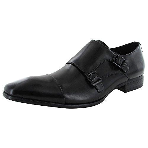 Kenneth Cole New York Regal Bearing Leather Monk Strap Dress Shoe Black