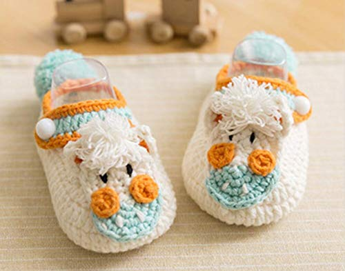 WellieSTR Easy Amigurumi: 1 Pair Horse Stlye Crochet Cute Baby Shoes Knitting Kit, Includes Crochet Yarn, Hook, and Needles (Choise Your Color by give us Message)