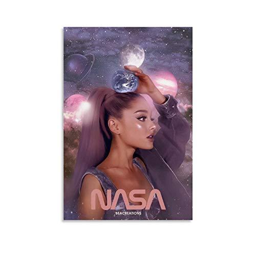 XYDD Poster sur toile pour décoration de chambre de famille moderne avec chanteur et actrice Ariana Grande Nasa 40 x 60 cm